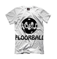 Футболка Floorball World wht/blk